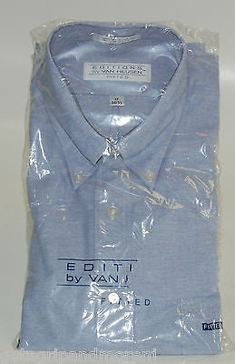 Dress Shirt Editions by Van Heusen Men 17 34/35 Light Blue !!NEW!!