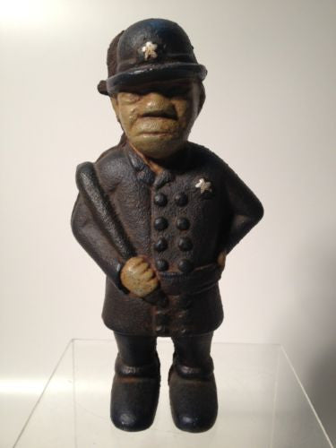 Mulligan Cast Iron Vintage Police Officer Bank!!