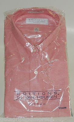 Dress Shirt Editions by Van Heusen Men 17 34/35 Light Pink !!NEW!!