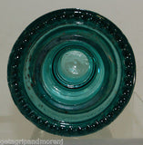 Hemingray 42 Insulator Antique Blue Green Glass Made in U.S.A.
