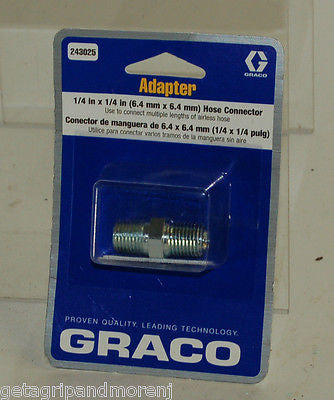 Graco #243025 1/4x1/4 Nipple Fitting !!!NEW!!!