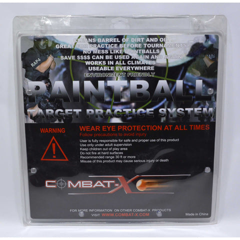 New! PAINTBALL PRACTICE TARGET by COMBAT-X for 0.68 Markers w/ 40-REUSABLE BALLS