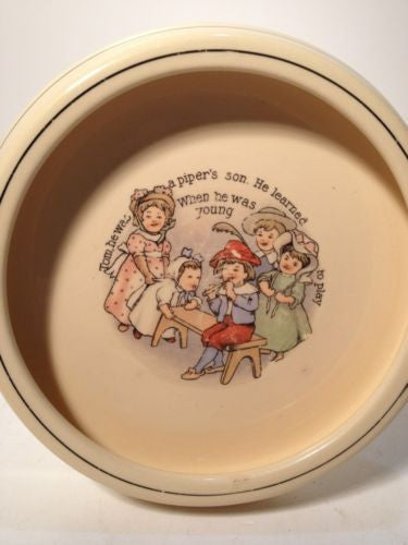 Roseville Juvevile Tom The Piper's Son Plate-Antique!