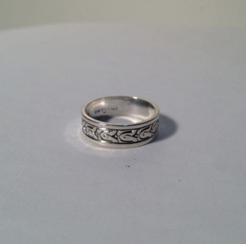 Sterling Silver Band Ring Size 6.5