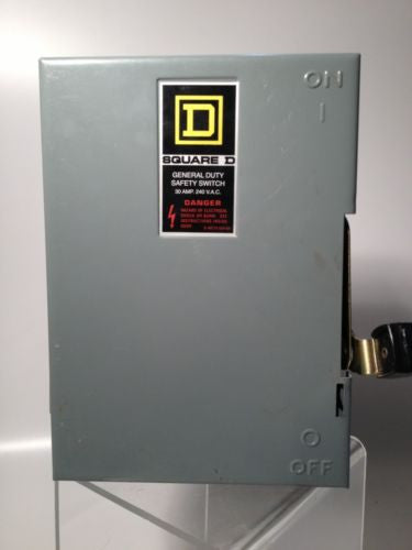 Square-D General Duty DU321 Safety Switch Not Fusible GD 240V 30A 3P