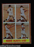Maris Blast 61st 1962 Topps # 313  Yankees Hall of Fame