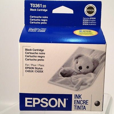 Epson T036120 Black Ink Cartridge Exp3/06 New!