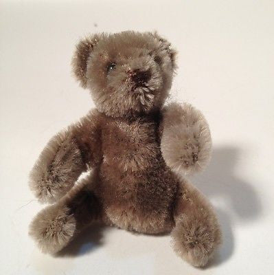 "Steiff Bear 3"" Inch Mohair - Mint Condition Made In Germany"