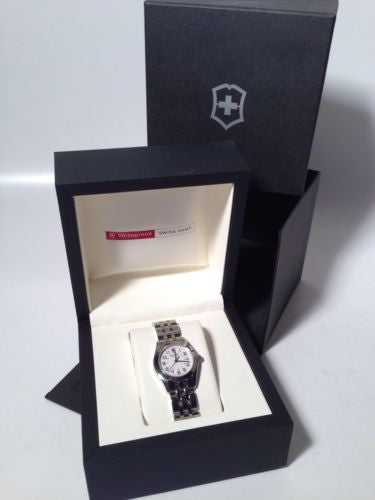 Victorinox Ladies Watch ALLIANCE White Dial Stainless Steel Case Model 24663