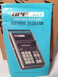 APF Mark V Fliptop Electronic Vintage Calculator Display Working In Box!