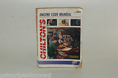 Chilton's Engine Code Manual (1996, Paperback)