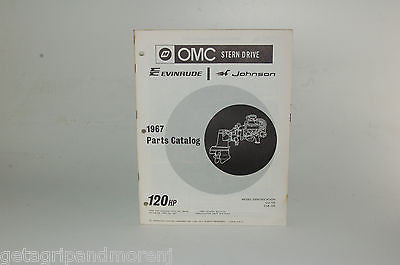 1967 EVINRUDE Parts Catalog 120 HP OMC Stern Drive