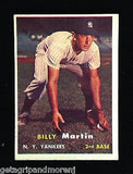 Topps 1957 Billi Martin Baseball Card Yankees Hall of Fame