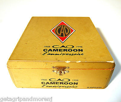 Cigar Box CAO Cameroon with Latch WOODEN CIGAR BOX