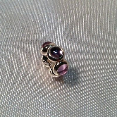 Pandora Sterling Silver Spacer Amethyst Charm