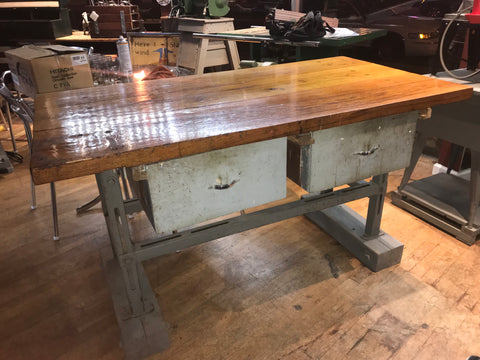 Vintage Industrial Workbench