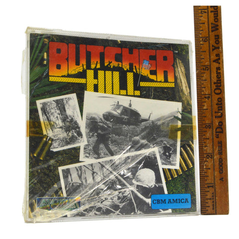 "Factory Sealed! COMMODORE AMIGA ""BUTCHER HILL"" Computer Game GREMLIN c1989 HTF!"