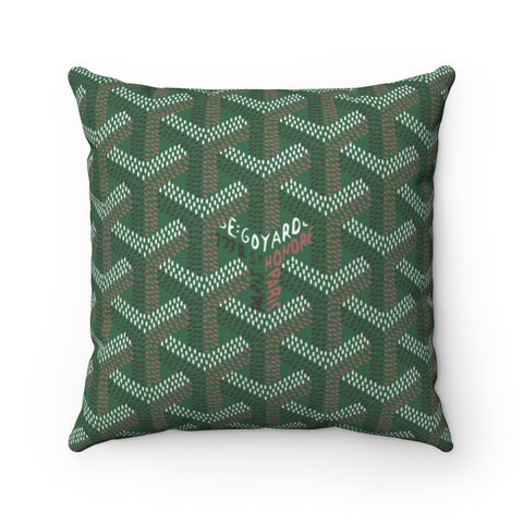 Goyart Throw Pillow- Green