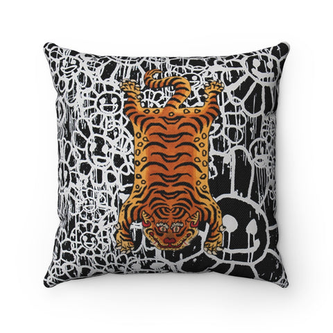 Tibetan Tiger Throw Pillow