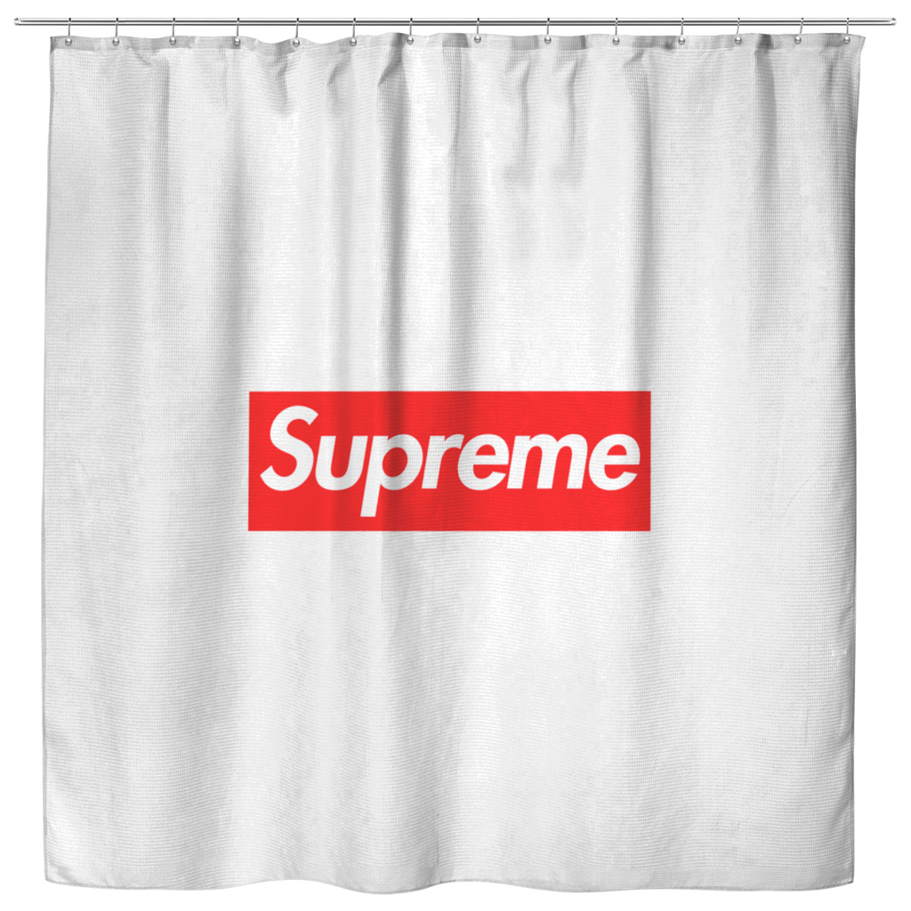 Box Logo Shower Curtain