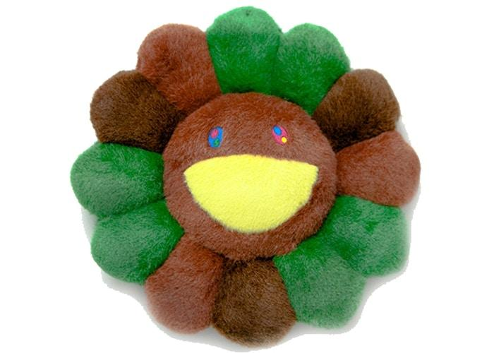 Happy Flower Pillow - Brown/Green
