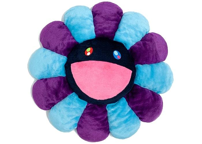 Happy Flower Pillow - Purple/Turquoise