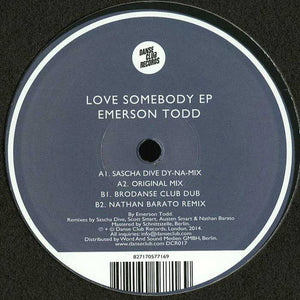 Emerson Todd ‎– Love Somebody EP