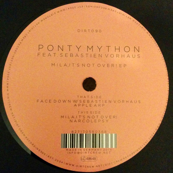 Ponty Mython Feat. Sebastien Vorhaus ‎– Mila, It's Not Over! EP