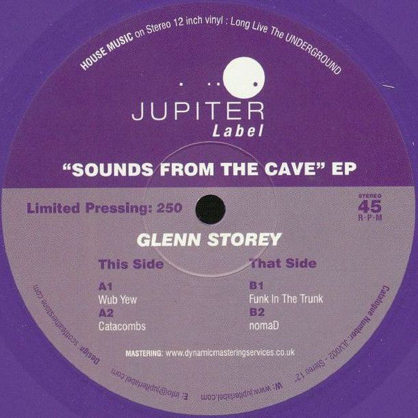 Glenn Storey ‎– Sounds From The Cave EP