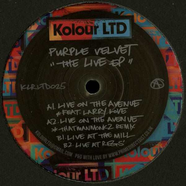 Purple Velvet ‎– The Live EP