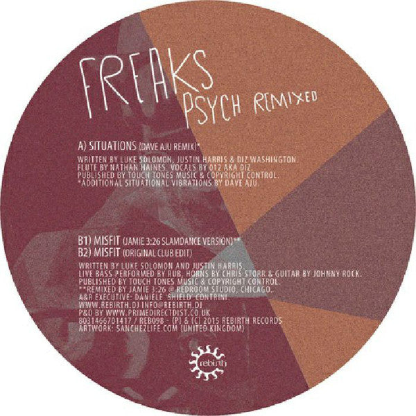 Freaks ‎– Psych Remixed