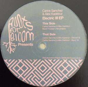 Carlos Sanchez & Alex Kaddour ‎– Electric III EP