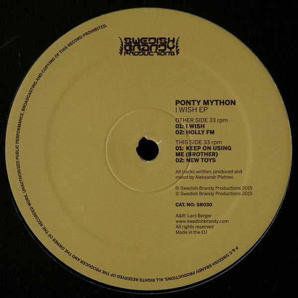 Ponty Mython ‎– I Wish EP