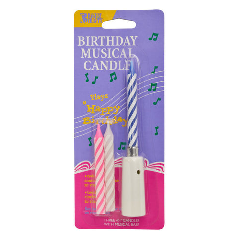 Musical BD Candle