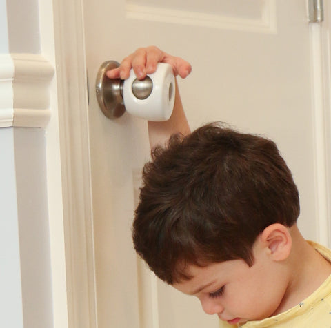Door Knob Covers - 4 Pack - Child Safety Solution - Child Proof Doors