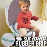 Toilet Traing Seat For Boys & Girls (Aqua) Splash Guard Non Slip with Hook