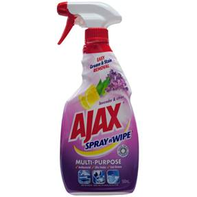 Ajax 500ml Spray N Wipe - Lavender