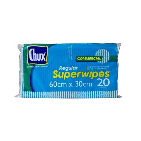 CHUX PK20 ORIGINAL SUPERWIPE CLOTHS 60cm X 30cm