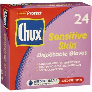 Chux disposable gloves - 24pk