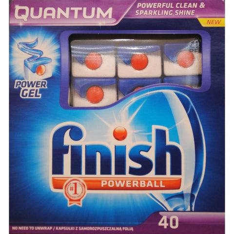 Finish 40pk Quantum powerball dishwashing tablets - Regular