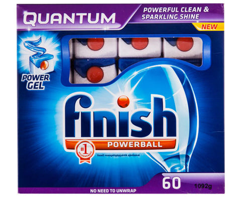 Finish 60pk quantum powerball dishwashing tablets - Original