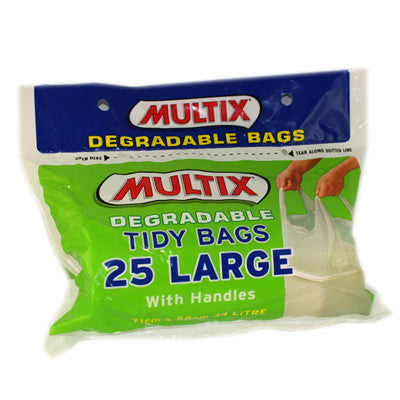 Multix 25pk degradable tidy bags - Large