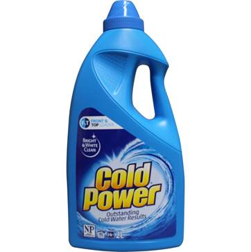 Cold Power 2L laundry liquid (Frangipani & Eucalyptus) - Top & Front loader