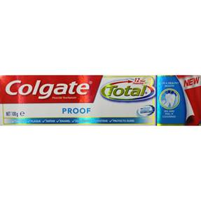 COLGATE 100g TOTAL TOOTHPASTE - Proof
