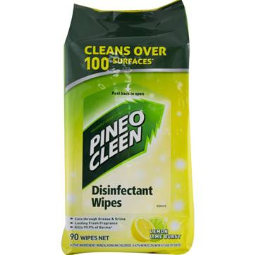 Pine O Cleen 90pk Disinfectant Wipes - Lemon lime burst