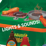 BBQ Grill Cookout Camp Stove with Sizzling Lights & Sounds, Play Utensils, & Play Food