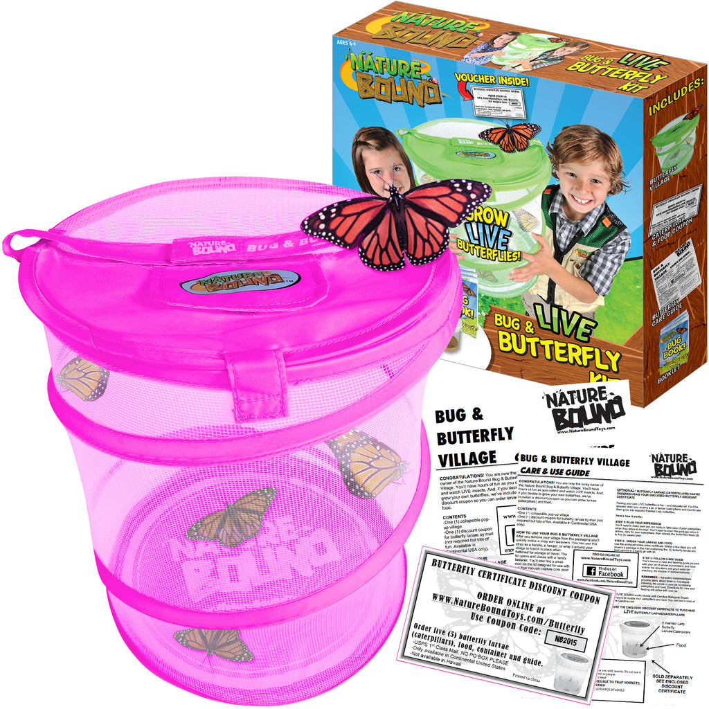 Butterfly Growing Habitat Kit - Pink