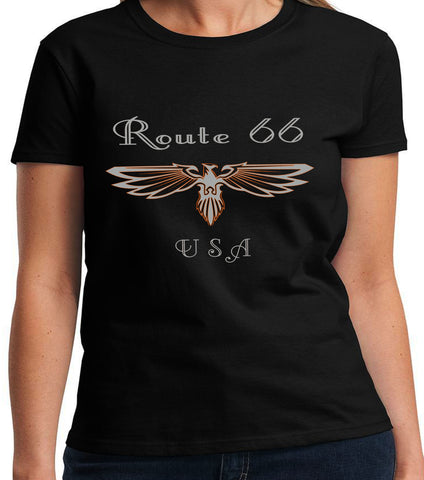 Women's Route 66 Black Tee