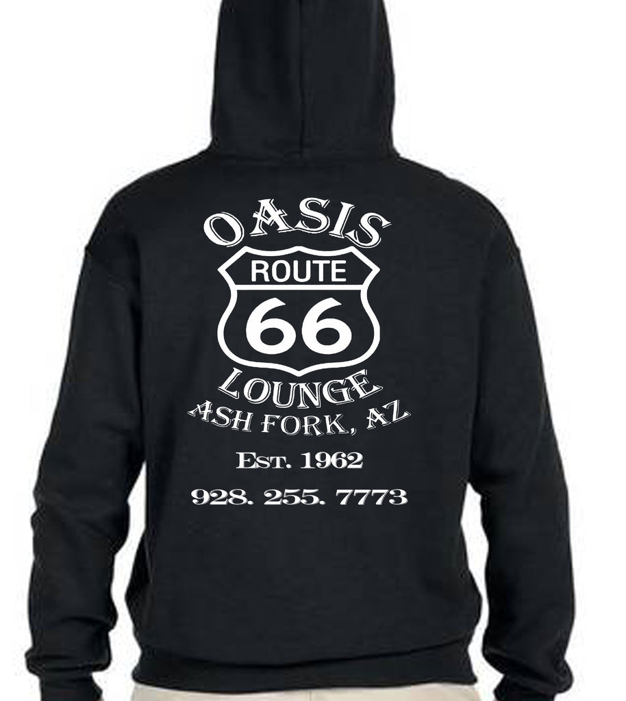 Oasis Lounge hoodies and shirts