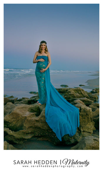 Chevy lace/chiffon slim fit maternity gown/trumpet gown/mermaid gown/bridal gown/senior prop/modeling/bridal dress/wedding dress/party gown/party dress
